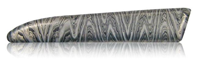 stainless steel damascus aluminum finish
