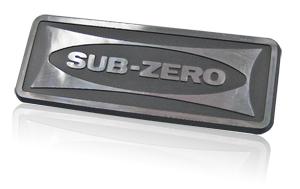 Sub-Zero diamond cut nameplate