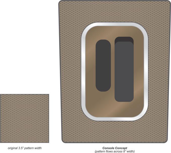 organic technical aluminum console concept