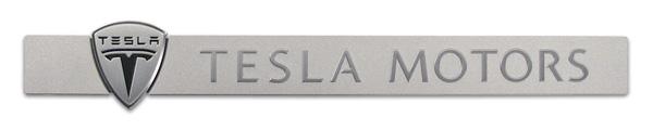 metal nameplate | TESLA MOTORS