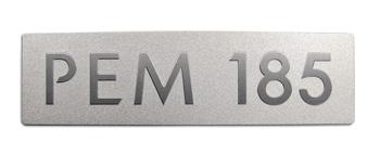 TESLA MOTORS | PEM 185 metal nameplate