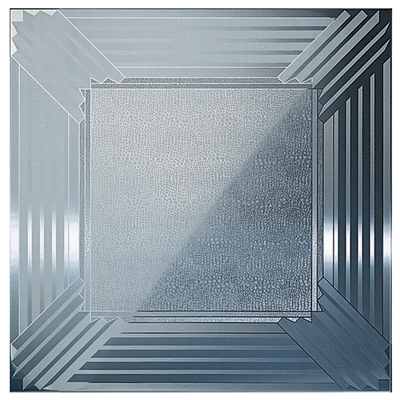 selective brush aluminum ceiling tile