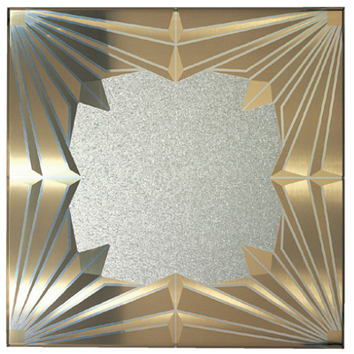 mixed metal ceiling tile