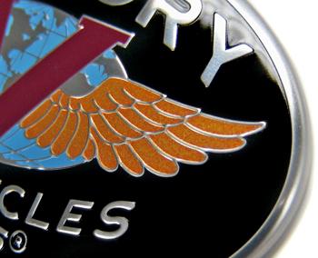Victory Motorcycle Badge Detail