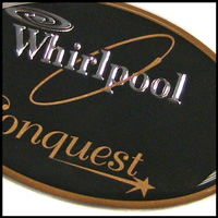 whirlpool domed label
