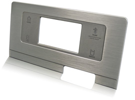 integrated aluminum and plastic trim