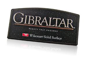 wilsonart Gibraltar POP nameplate