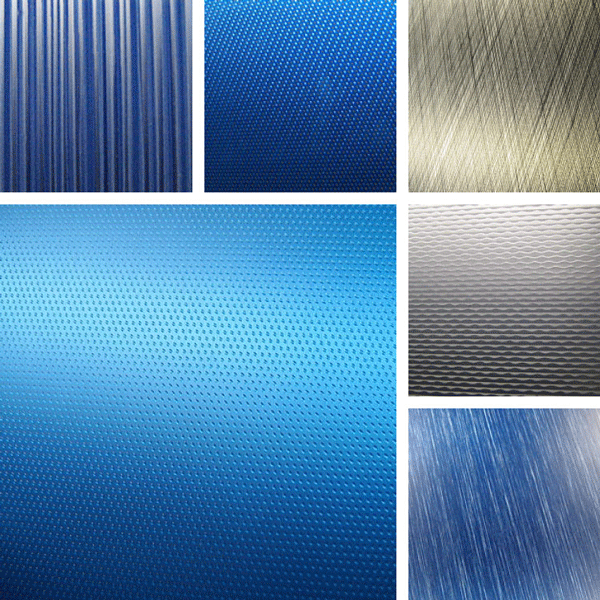 Sensory Surface Collection | brushed aluminum with metallic finishes
