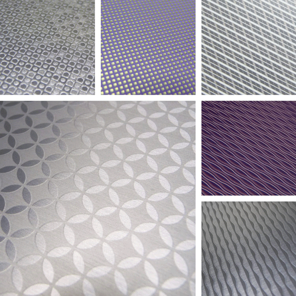 Present Surface Collection | symmetry and flowing lines for metal surfaces