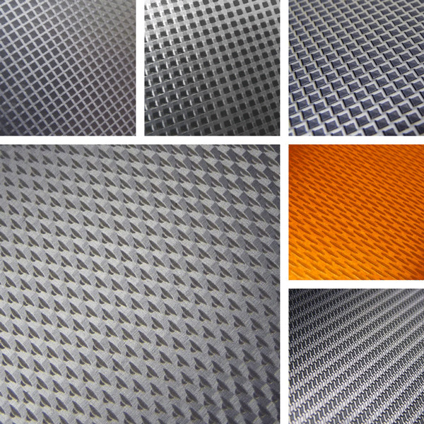 Explore Surface Collection | geometric grids and woven structures on metal