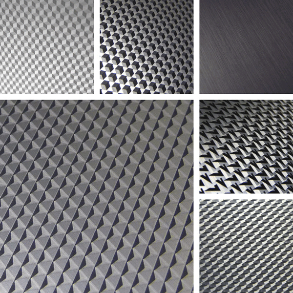 Faceted Surface Collection | 3D effects on aluminum