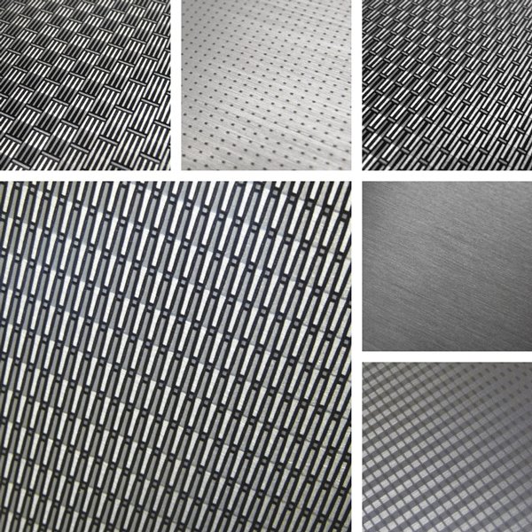 Soft Tech Surface Collection | Woven wire surfaces translated to aluminum patterns