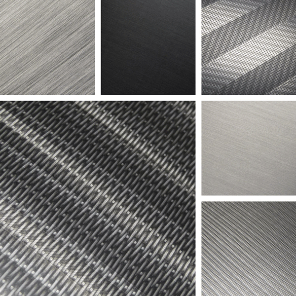 Exposed Surface Collection | Woven wire mesh finishes on aluminum