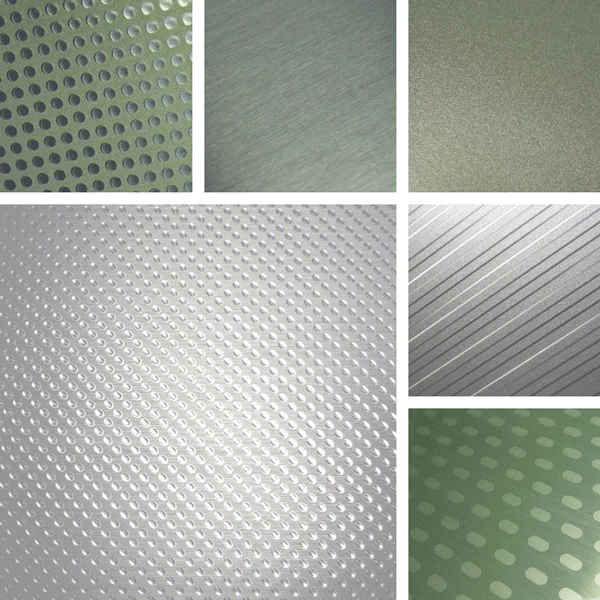 Fresh Surface Collection | Brushed aluminum, metallics and texture combine with simple geometric shapes