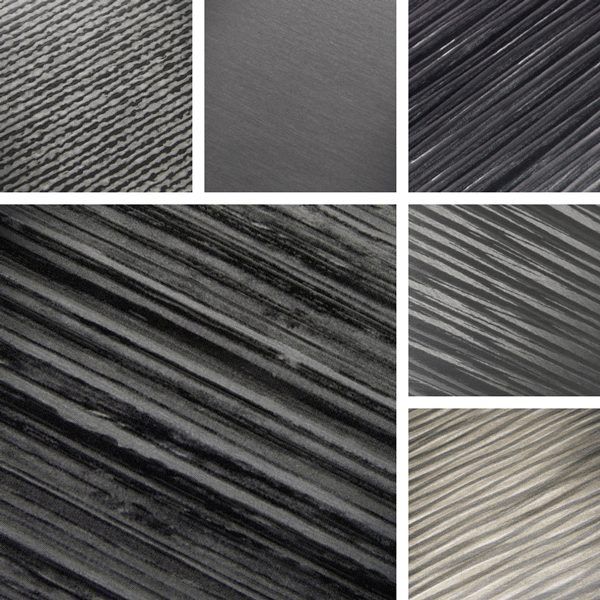 Dissolvable Surface Collection | organic linear structures with striations of brush and texture