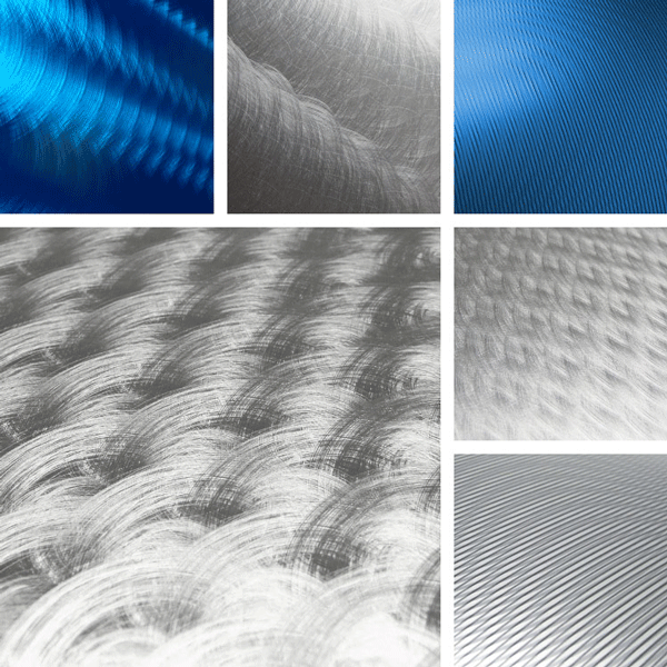 Authentic Surface Collection | hand-crafted looks with mechanical finishes on aluminum
