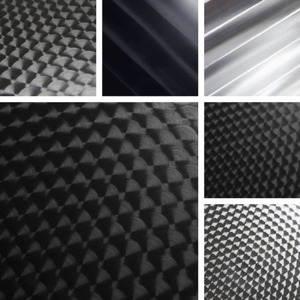 Transform Surface Collection | Sporty mechanical finishes on aluminum