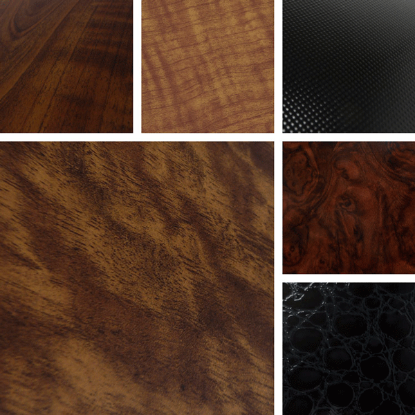Collected Surface Collection | Faux woodgrain patterns on aluminum