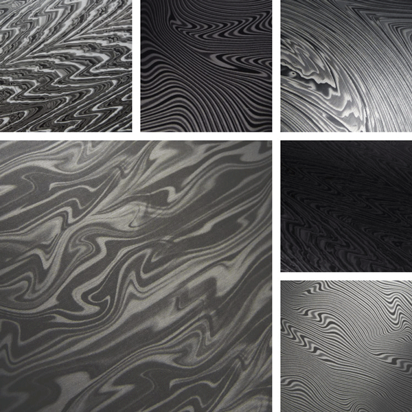 Ascent Surface Collection | Damascus steel interpreted on aluminum