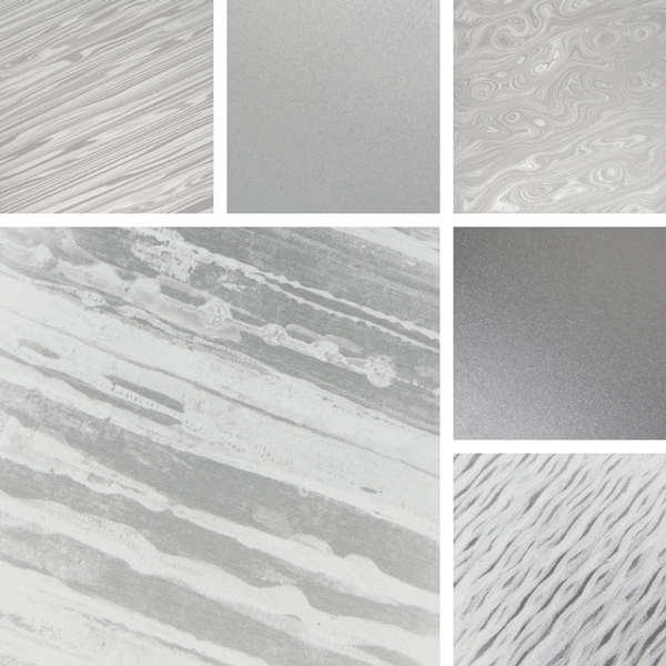 White Out Surface Collection | Layers of white in metal patterns