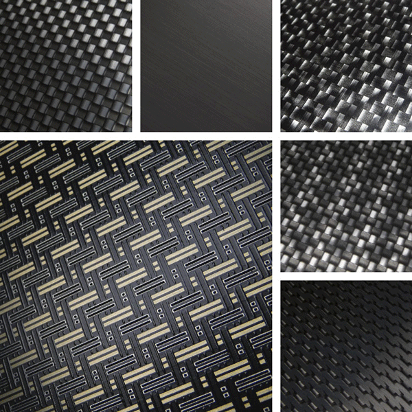 Optic Surface Collection | Aluminum with look of real carbon fiber trim
