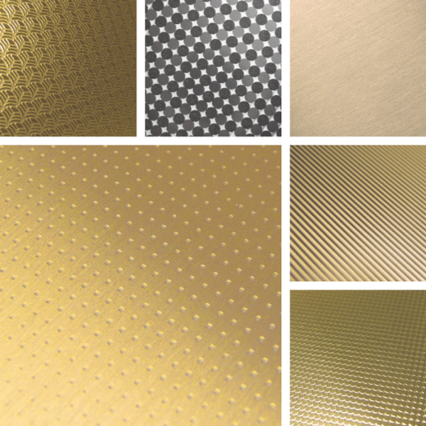 Gilded Surface Collection | Warm gold finishes on aluminum