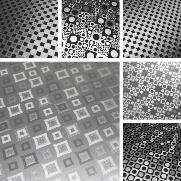 Graphic Surface Collection | Selection of 3D and dimensional finishes on aluminum