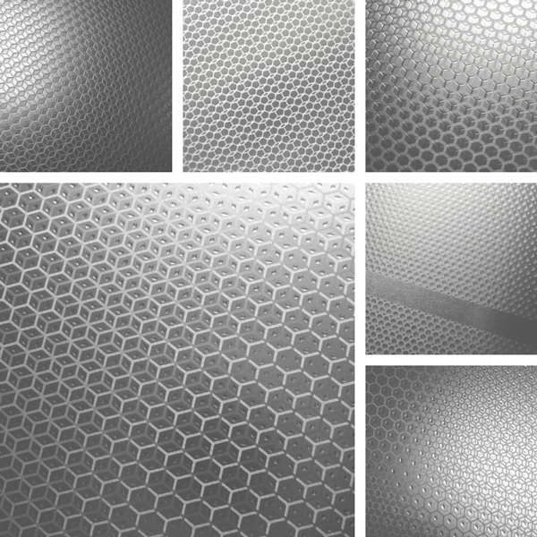 Sharp Surface Collection | hexagonal shapes and patterns on aluminum