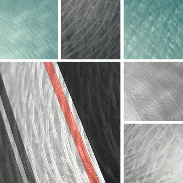Inventive Surface Collection | Organic mechanical surfaces layered with color
