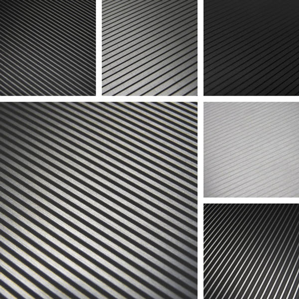 LineUp Surface Collection | Linear patterns on metal