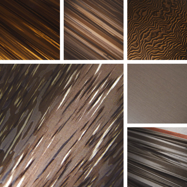 Imperfect Surface Collection | copper and amber metallics