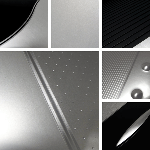 Elegance Surface Collection | Aluminum surface decoration layered with matte and gloss finishes