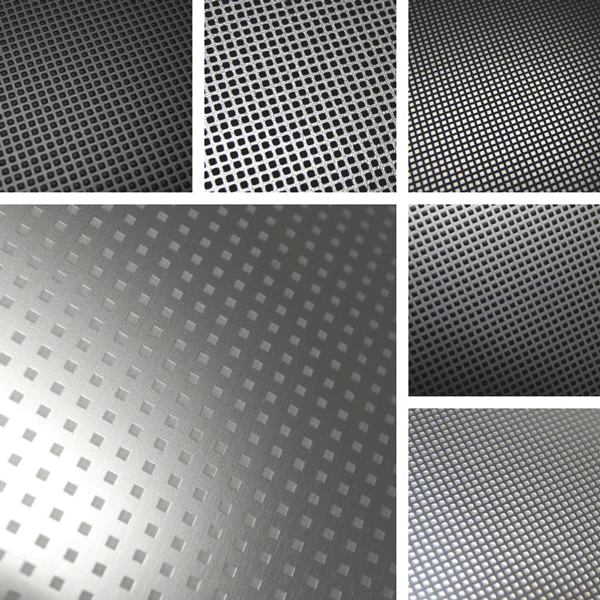 SquareUp Surface Collection | Patterns on aluminum with grid structure