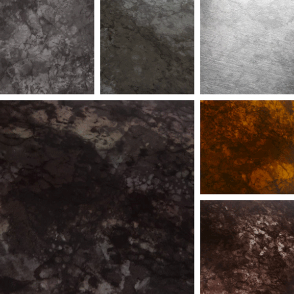 Luminous Surface Collection | Distressed finishes on aluminum
