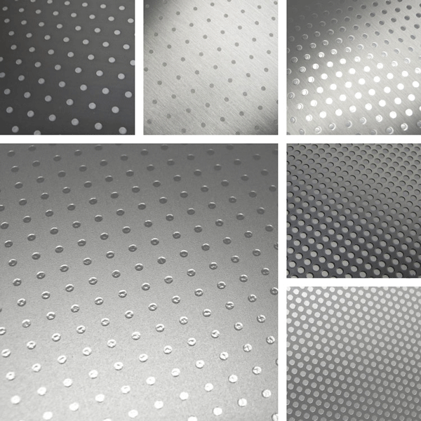 Circle Round Surface Collection | basic dot patterns on aluminum surfaces