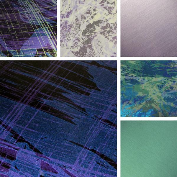 MishMash Surface Collection | Organic finishes on aluminum
