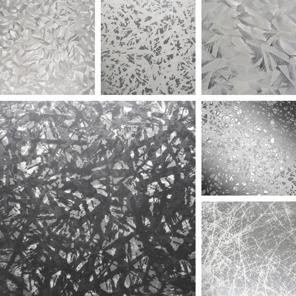 Organic Surface Collection | Organic crystalline structures on aluminum patterns