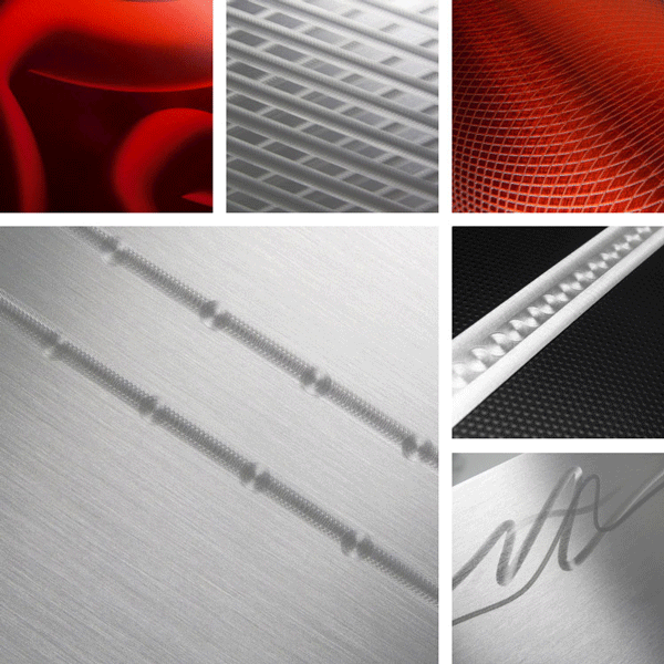 ExtraOrdinary Surface Collection | Machined finishes on aluminum