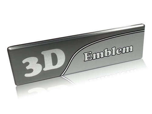 aluminum 3D emblem