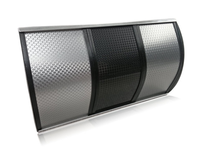Geometric Patterns on Aluminum, layered finish