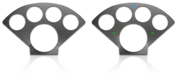 Carbon Fiber Overlay backlit
