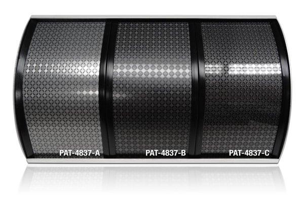 PAT-4837-A, PAT-4837-B, PAT-4837-C, geometric pattern on aluminum