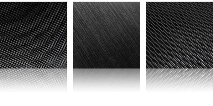 dark aluminum surfaces