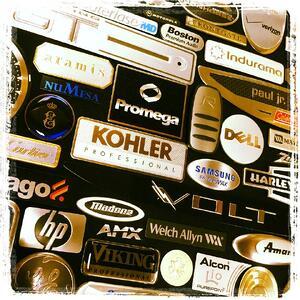 nameplates, labels, brand awareness