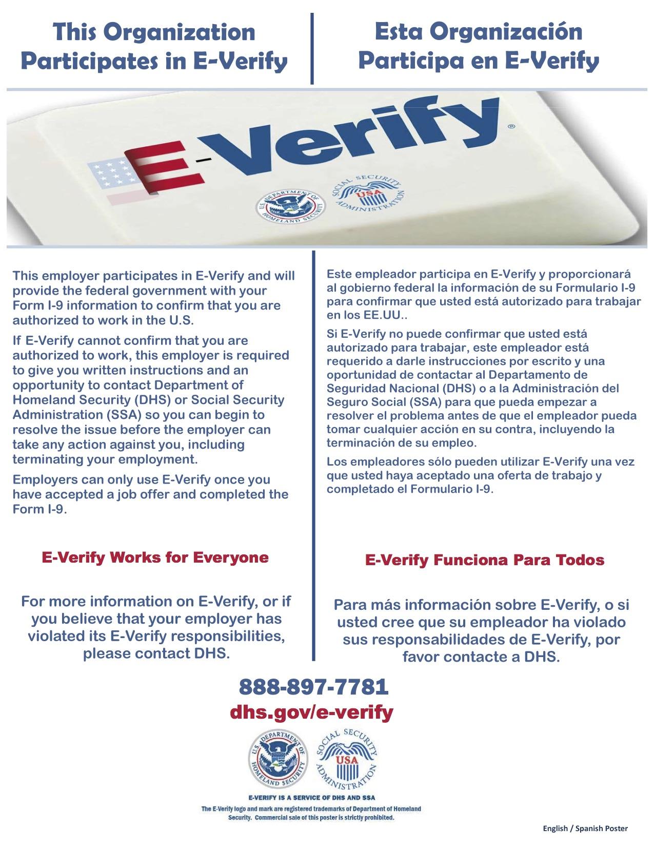 E-Verify Poster (English_Spanish)