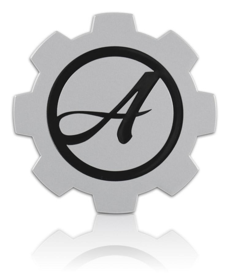 Debossed Aluminum badge wtih Unique Shape