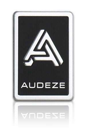 embossed aluminum nameplate for electronic audio headphones