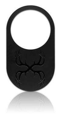 black on black decoration for aluminum nameplate