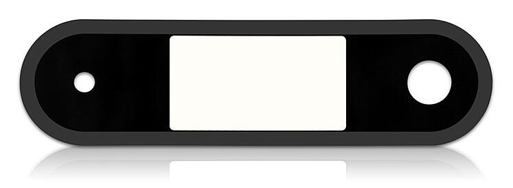high gloss black with low gloss black border on plastic overlay