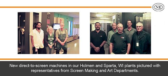 Direct-To-Screen machine investment made by Northern Engraving